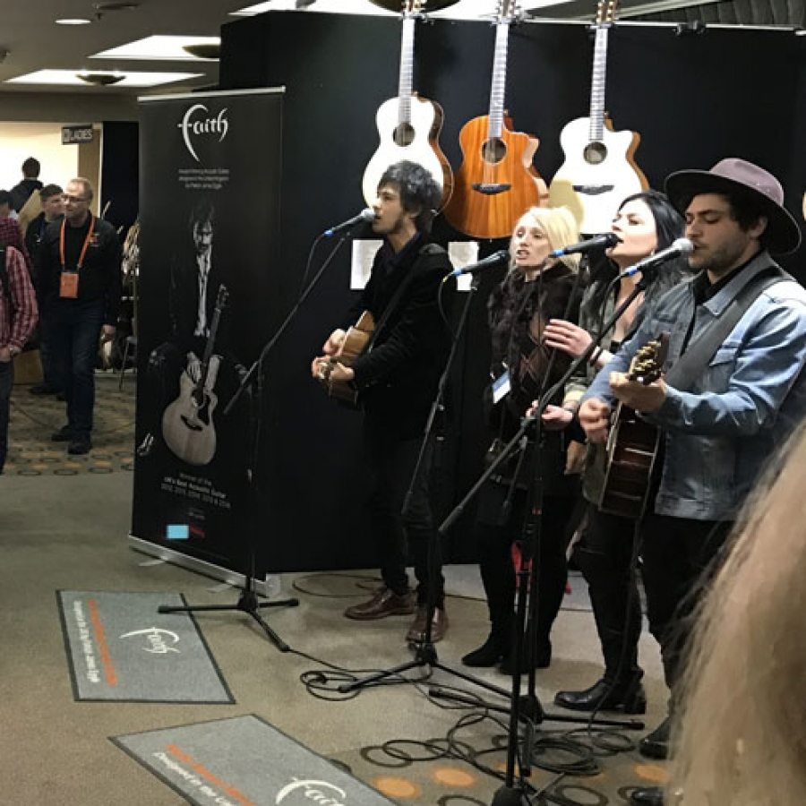 Faith at Melbourne Guitar Show 2019